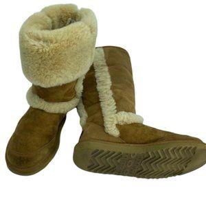 Ugg Sunsparkle Shearling Boots, Chestnut Size 7